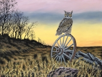GREAT HORNED EVENING OWL